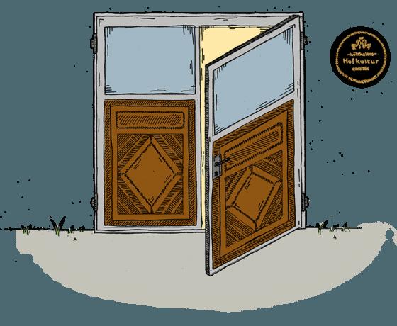 Hofkultur Tierwohl-Stall - Tür